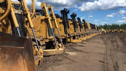 Heavy equipment is assembled in Hardisty to construct Enbridge's Line 3 replacement pipeline. (Suppl