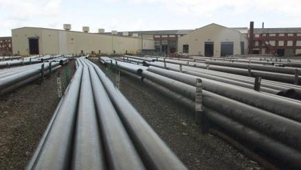SteelSteel tubes at U.S. Steel's Lorain Tubular Operations sit in the company's storage area