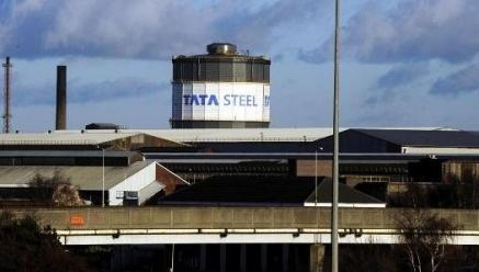 The strike is by contract staff at the Tata Steel works in Scunthorpe